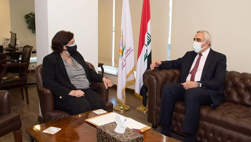 منظمة المرأة العربية تستقبل المندوب الدائم لجمهورية العراق لدى جامعة الدول العربية في مقرها اليوم