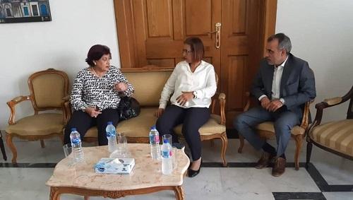 الدكتورة فاديا كيوان تُقدّم التعازي في وفاة الرئيس الباجي قايد السبسي  بمقرّ سفارة تونس بالقاهرة