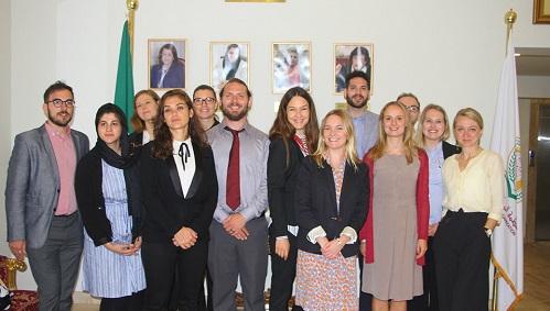 منظمة المرأة العربية تستقبل وفداً من القيادات الشبابية الأوروبية والأمريكية والكندية ا