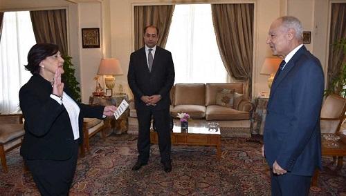 المديرة العامة لمنظمة المرأة العربية تؤدي القسم