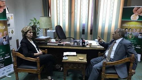 السفيرة مرفت تلاوي تتباحث مع  الدكتور صفوت النحاس حول سبل دعم المواطنين العرب الأكثر احتياجا