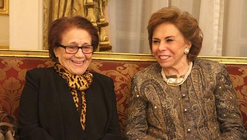 المناضلة جميلة بوحيرد تُشيد بالسفيرة مرفت تلاوي
